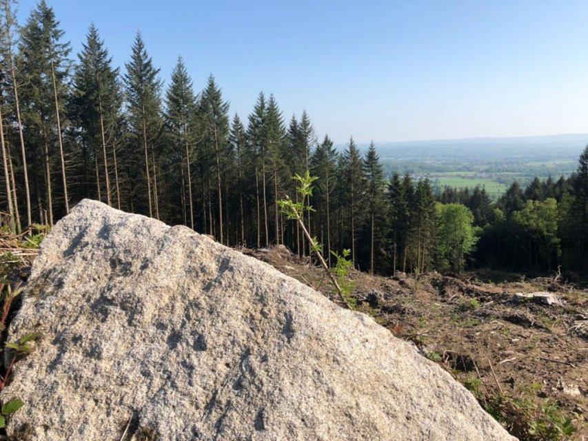 Vue à partir du Maupuy - Trail en Creuse, circuits trail en Creuse, trail en Limousin